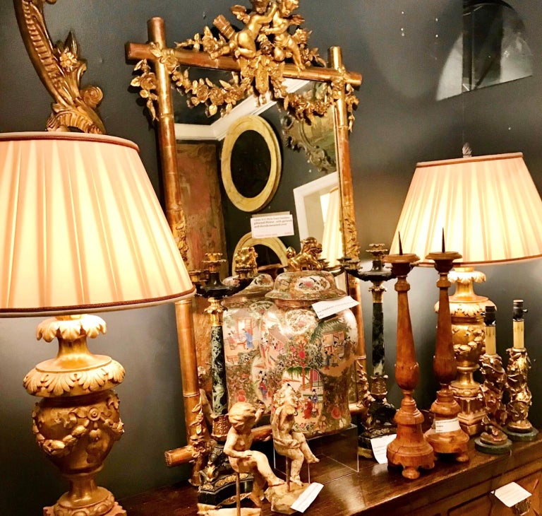Tall Pair of Charles X Verdi Antico Marble and Gilt Bronze Candelabras For Sale 6