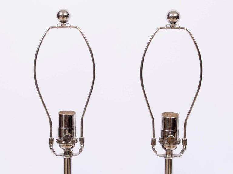 Tall Pair of ESA Danish Modern Turned Solid Dark Teak Table Lamps, circa 1960 For Sale 2