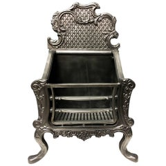 Tall Period Cast Iron Rococo Style Fire Grate