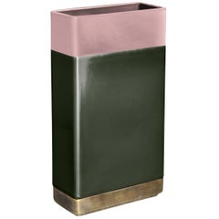 Tall Pink and Green Vase by Dimore Studio