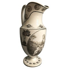 Tall Pitcher with Handle, Creil et Montereau, circa 1820