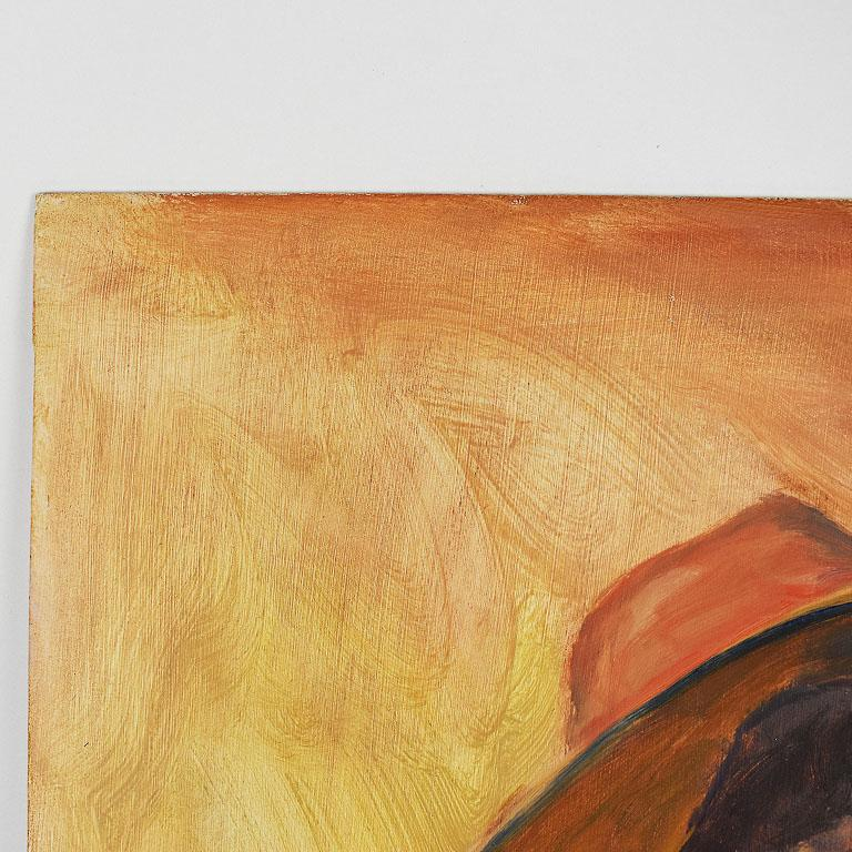 Tall Portrait Painting of a Woman in a Hat at Sunset, Clair Seglem In Excellent Condition For Sale In Oklahoma City, OK