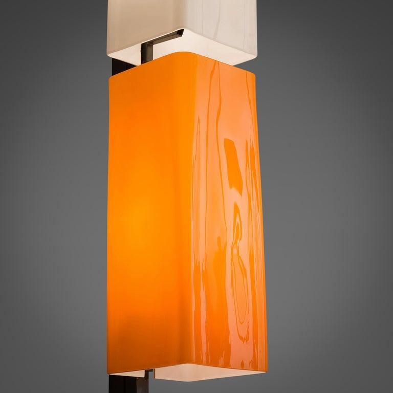 Post-Modern Tall Postmodern Italian Glass Floor Lamp For Sale