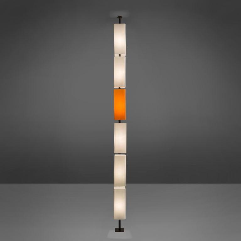 Tall Postmodern Italian Glass Floor Lamp In Good Condition For Sale In Waalwijk, NL