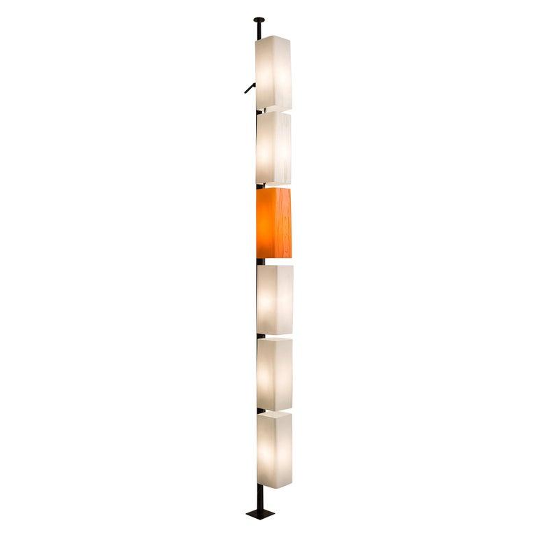 Tall Postmodern Italian Glass Floor Lamp For Sale