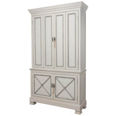 Tall Provincial Painted Cabinet