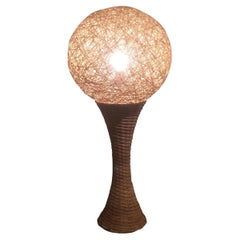 Tall Rattan Table Lamp