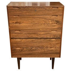 Tall Rosewood 6-Drawer Chest by Svend Langkilde for Langkilde Møbler