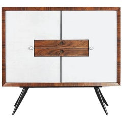 Tall Rosewood Italian Modern Cabinet with Drawers, 1950s
