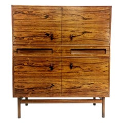 Tall Rosewood Sideboard Cabinet by Tom Robertson for McIntosh Midcentury 1960s
