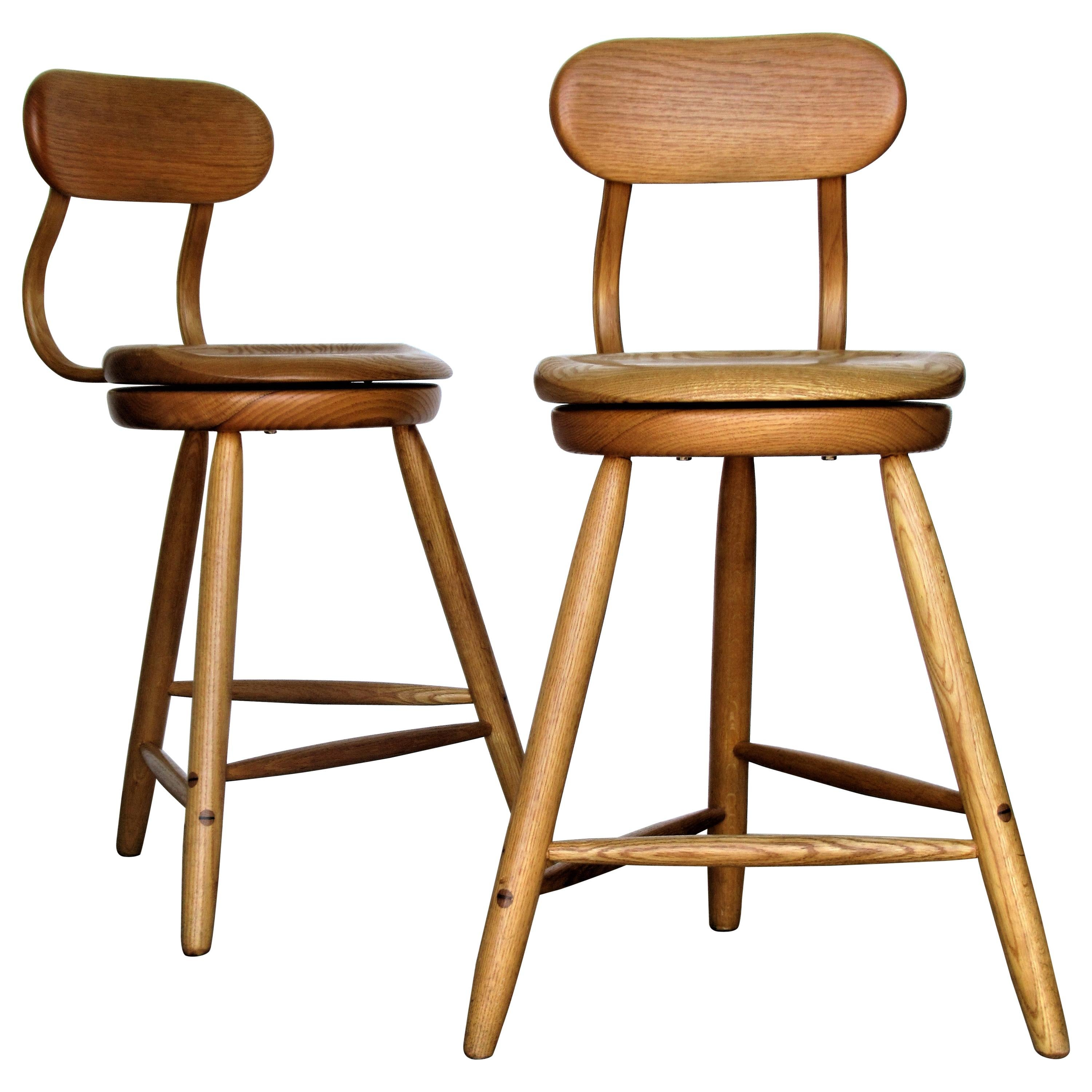Swivel Seat Stools by Kai Pedersen Woodworking Studio, USA, 1980