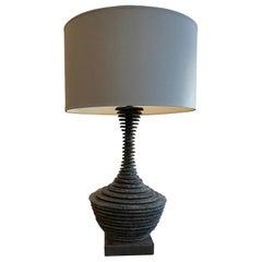 """Strata"" Slate Amphora  Table Lamp"