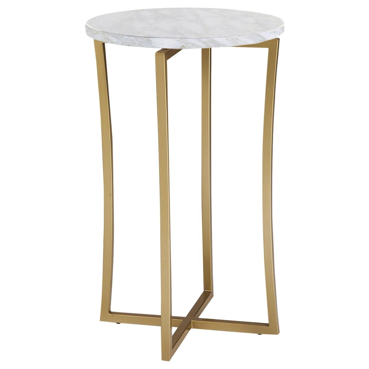Tall Side Table with Calcatta Marble