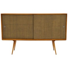 Tall Sideboard Storage Cabinet on Platform Bench by Paul McCobb for Winchendon