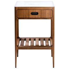 Radius Tall Single Drawer Side Table in Walnut by Munson Furniture