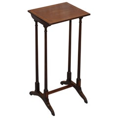 Tall Single Georgian Side Table in Mahogany with Box Wood Inlay Lamp Wine End