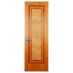 Tall Single Panel Maple Veneer Doors, 20th Century