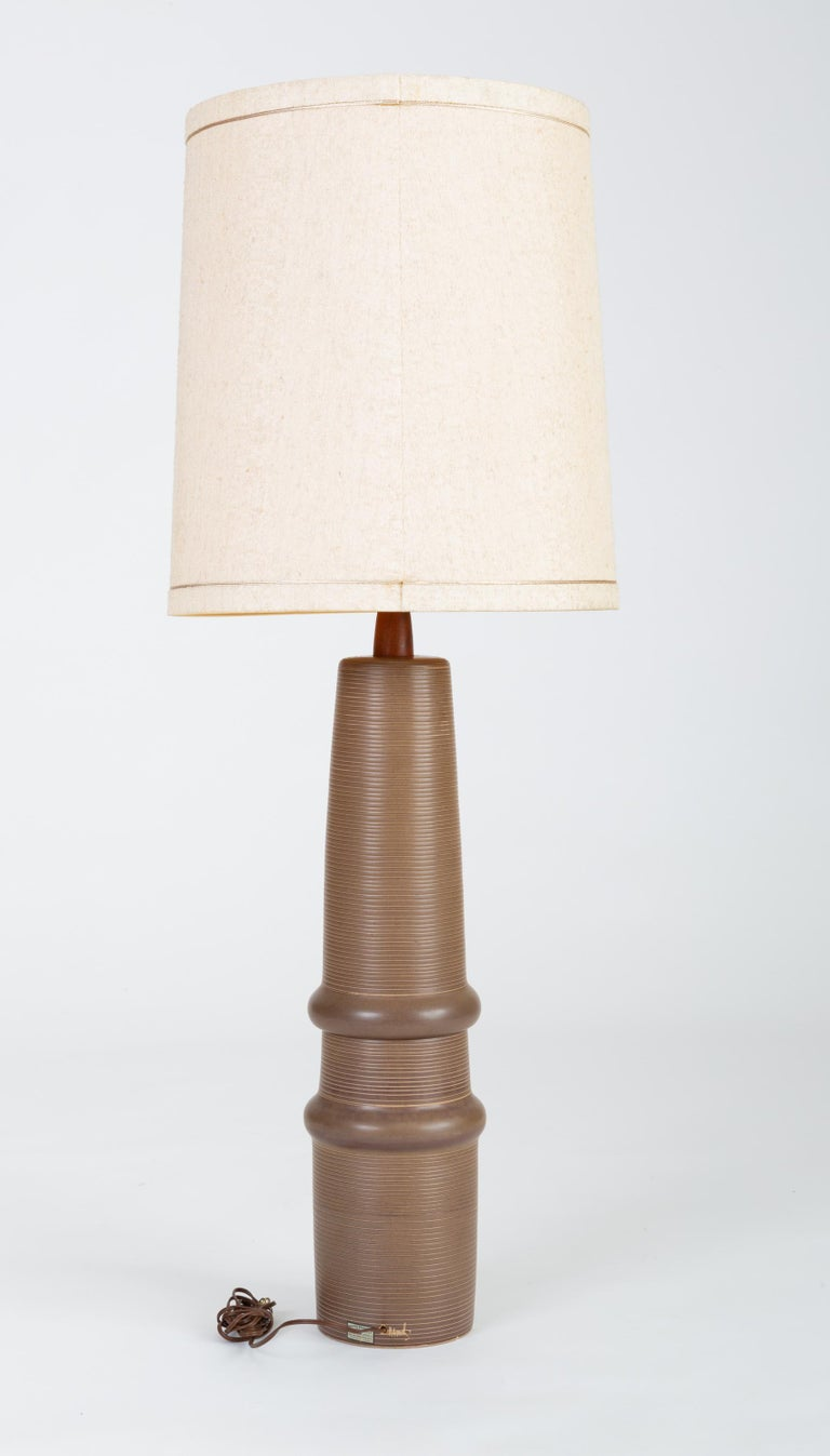 American Tall Stoneware Lamp by Gordon and Jane Martz for Marshall Studios For Sale
