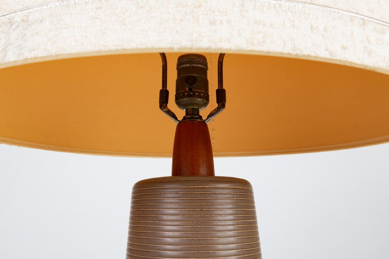 Mid-20th Century Tall Stoneware Lamp by Gordon and Jane Martz for Marshall Studios For Sale