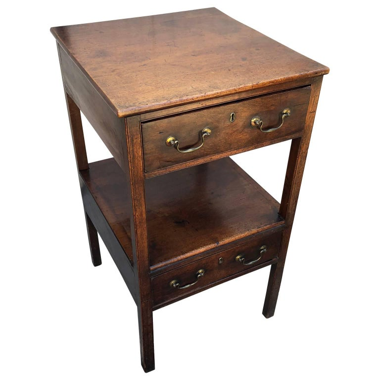 Tall Two-Drawer Desk or Chest