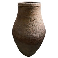 Tall Un-Glazed Terracotta Oil Jar