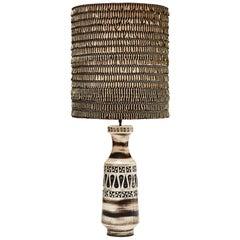 Tall Vintage Belgium Ceramic Table Lamp