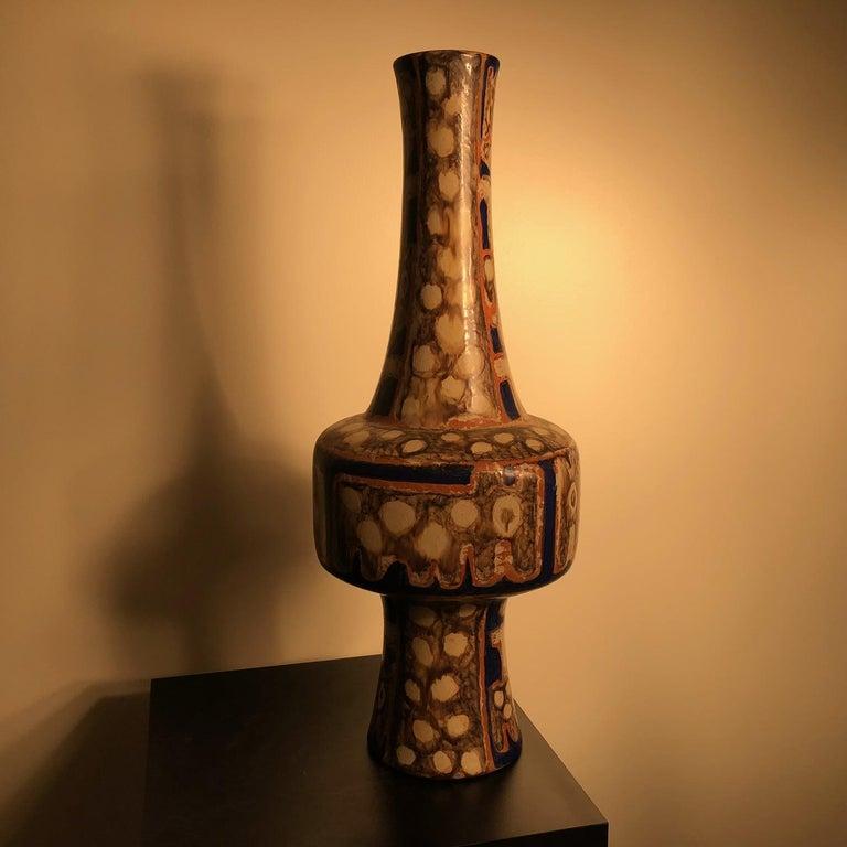 Tall  Whimsical Vase-Lamp Base Teddy Bear & Friends Handmade Eva Fritz-Lindner For Sale 4