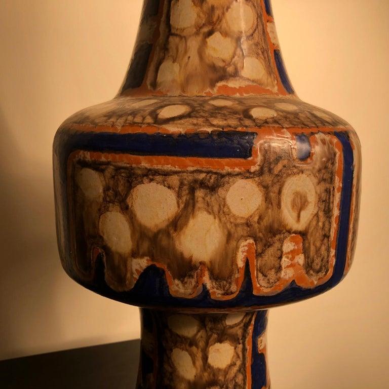 Tall  Whimsical Vase-Lamp Base Teddy Bear & Friends Handmade Eva Fritz-Lindner For Sale 5