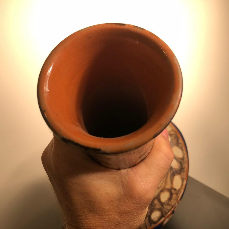 Tall  Whimsical Vase-Lamp Base Teddy Bear & Friends Handmade Eva Fritz-Lindner For Sale 7