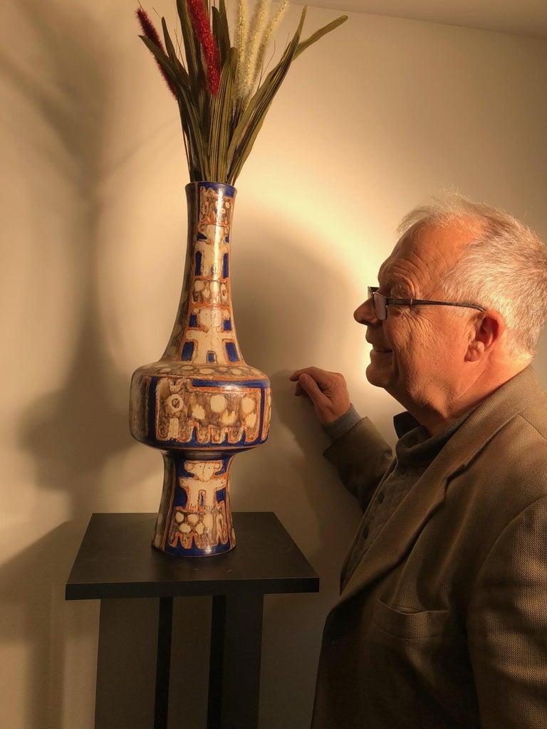 Tall  Whimsical Vase-Lamp Base Teddy Bear & Friends Handmade Eva Fritz-Lindner For Sale 10