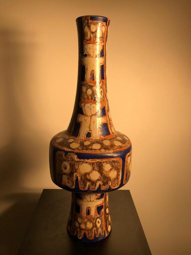 Tall  Whimsical Vase-Lamp Base Teddy Bear & Friends Handmade Eva Fritz-Lindner For Sale 12