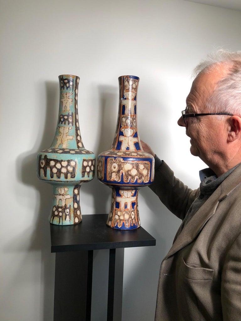 Tall  Whimsical Vase-Lamp Base Teddy Bear & Friends Handmade Eva Fritz-Lindner For Sale 13