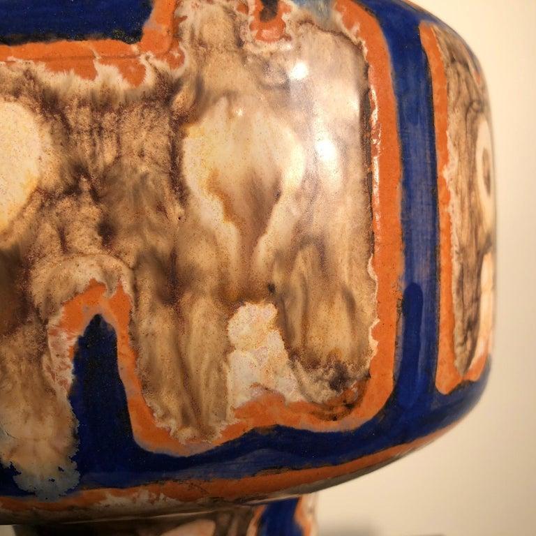 Hand-Crafted Tall  Whimsical Vase-Lamp Base Teddy Bear & Friends Handmade Eva Fritz-Lindner For Sale