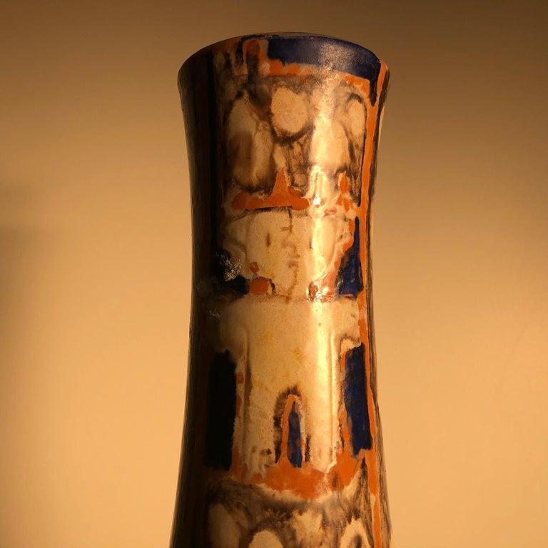 Tall  Whimsical Vase-Lamp Base Teddy Bear & Friends Handmade Eva Fritz-Lindner For Sale 1