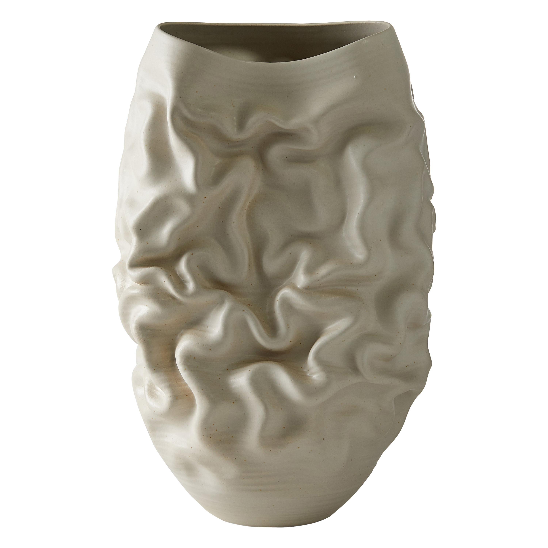 Tall White Dehydrated Form No 43, a Ceramic Vessel by Nicholas Arroyave-Portela