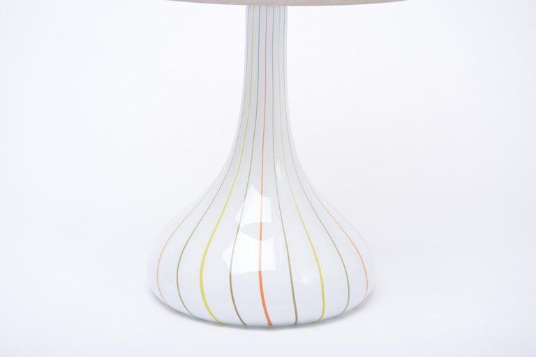 Mid-Century Modern Tall White Glass Table Lamp model