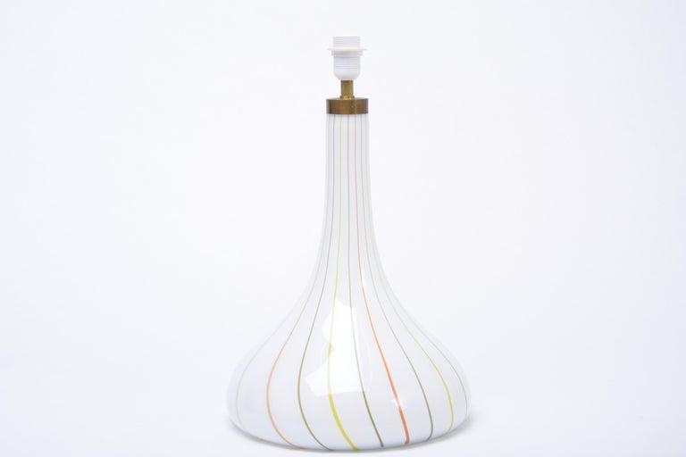 Tall White Glass Table Lamp model