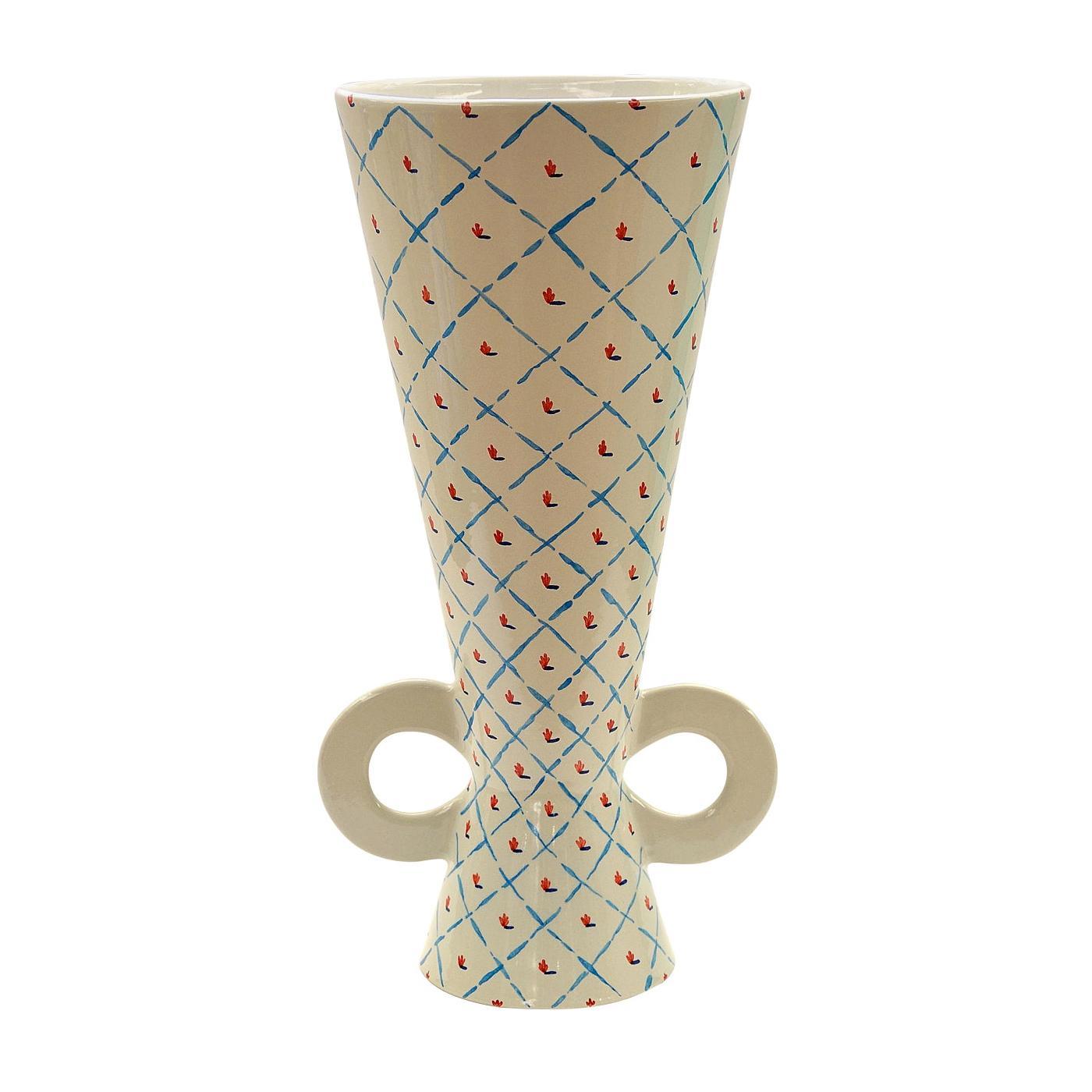 Tall White Vase by Ugo La Pietra