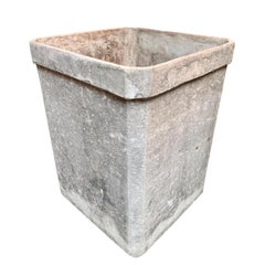Tall Willy Guhl Concrete Planter