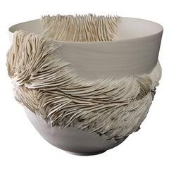 Tall Wrapping Bowl, a Unique Porcelain Sculptural Bowl by Olivia Walker