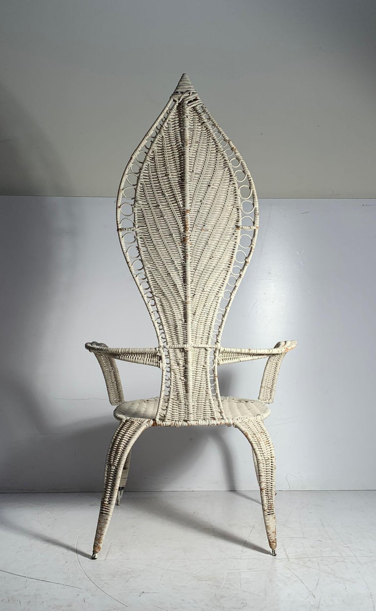 Wicker Tropi-Cal Danny Ho Fong and Miller Fong Mid-Century Modern Garden Patio Chair For Sale