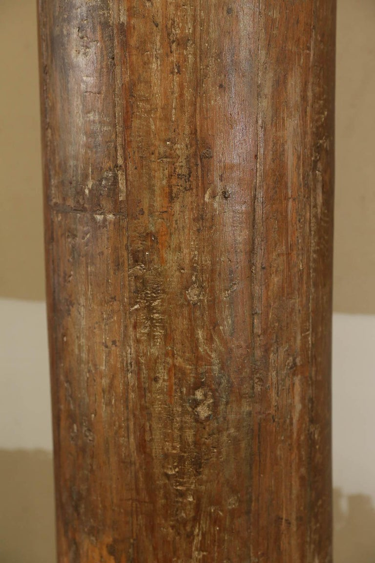 Indian Tall Vintage Wooden Load Bearing Columns For Sale