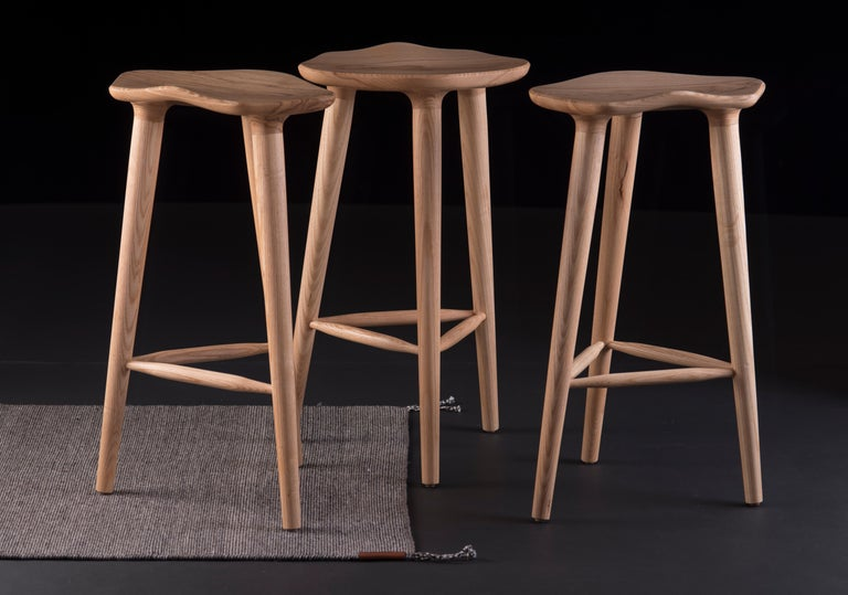 Minimalist Tam Counter Stool, Ash For Sale