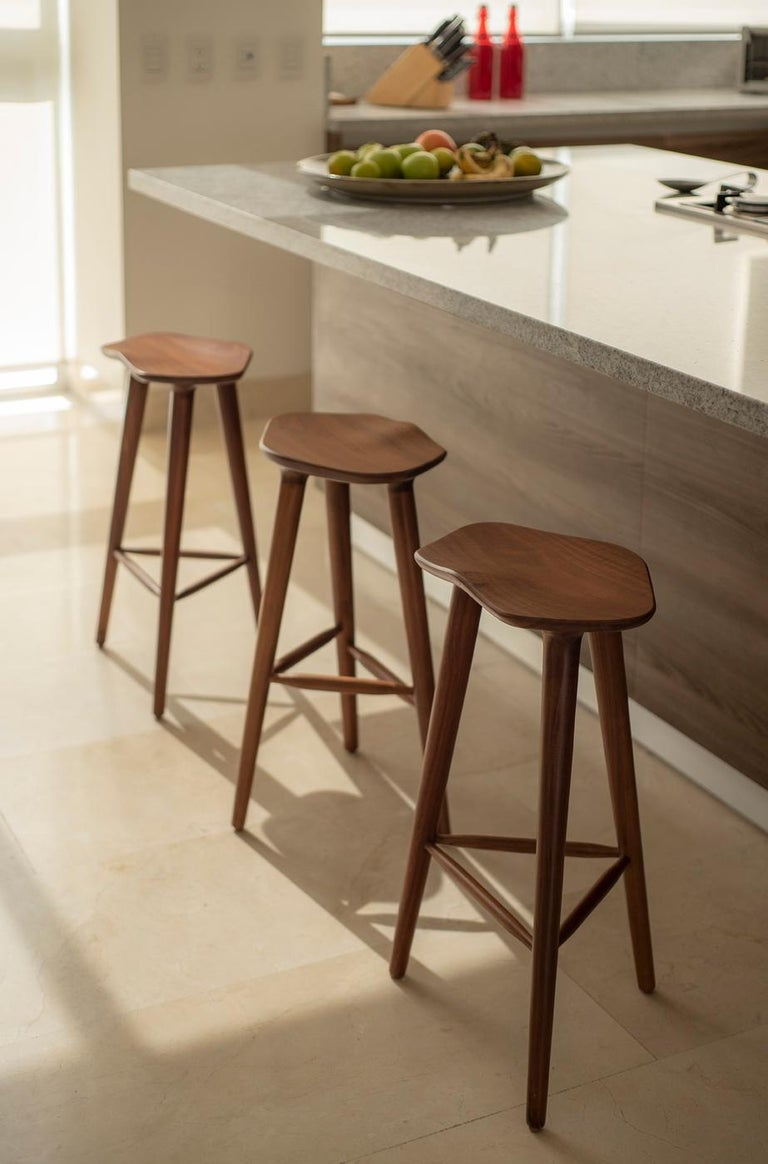 Mexican Tam Counter Stool, Ash For Sale