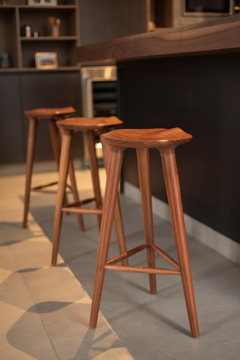 Turned Tam Counter Stool, Ash For Sale