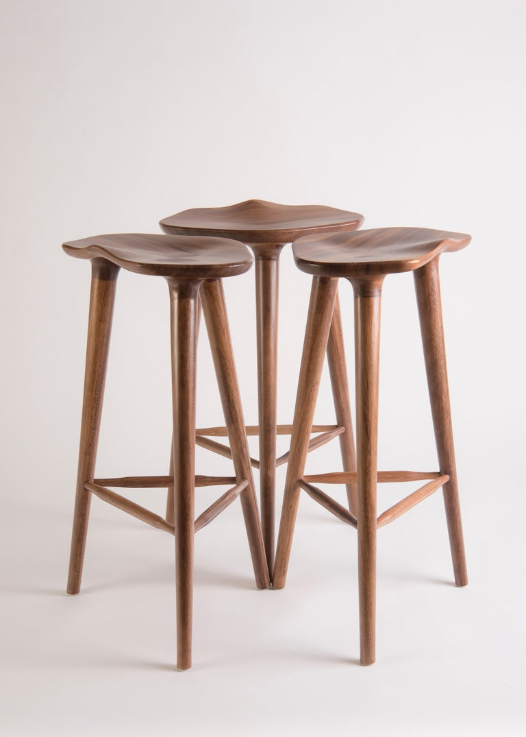 Minimalist Tam Counter Stool, Tzalam For Sale