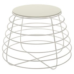 Tam White Accent Table