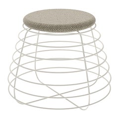 Tam White and Gray Stool