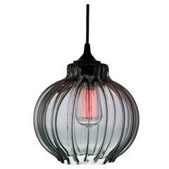Tamala Contemporary Hand Blown Pendant Lamp in Smokey Gray, Limited Series