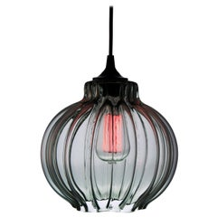 Tamala: Contemporary Hand Blown Pendant Lamp in Smoky Gray by Luminosa™